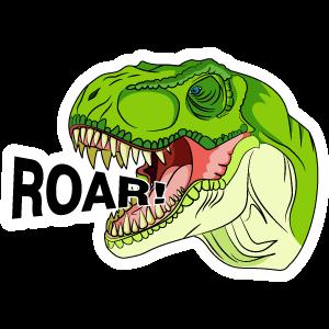 Dinosaur T-Rex Roar Sticker