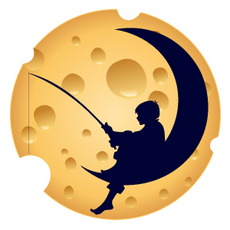 DreamWorks Cheese Round Logo Sticker