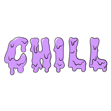 Drip Chill Sticker
