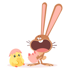 Easter Surprise Sticker
