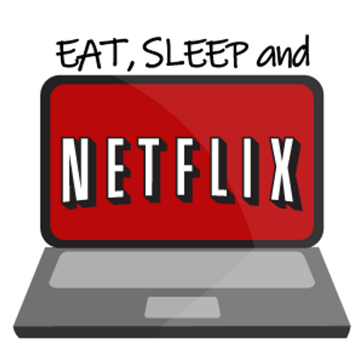Eat Sleep and Netflix Sticker