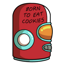 Final Space Gary GodSpeed Helmet Born to Eat Cookies