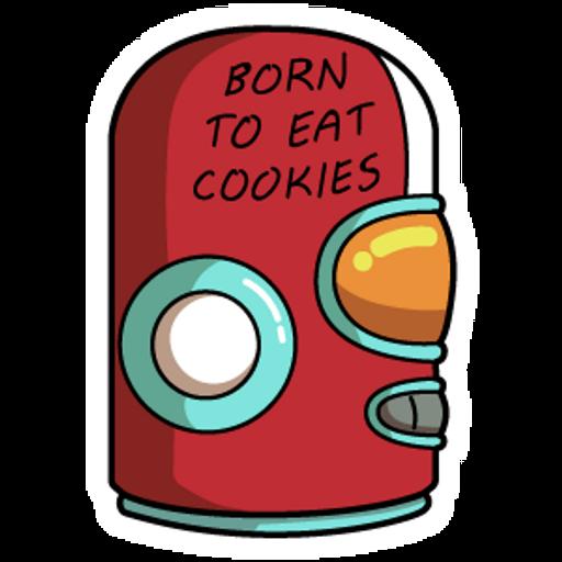 Final Space Gary GodSpeed Helmet Born to Eat Cookies