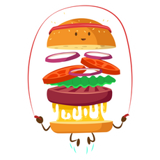 Fitness Burger Sticker