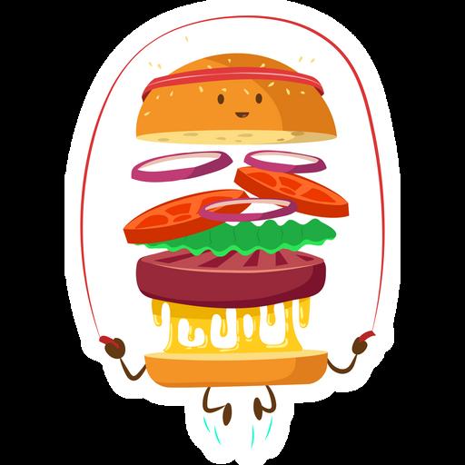 Fitness Burger Sticker