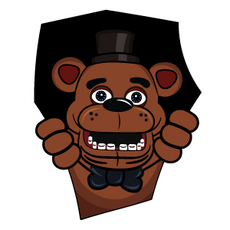 Five Nights at Freddys Freddy Fazbear Sticker
