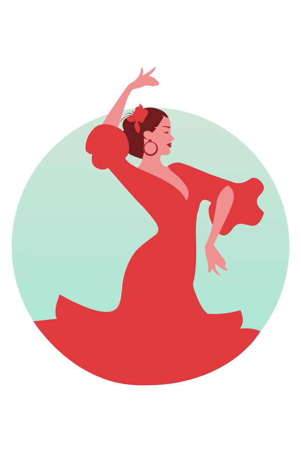 Flamenco Dance Sticker