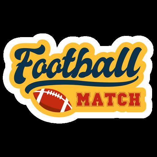 Football Match Retro Style Sticker