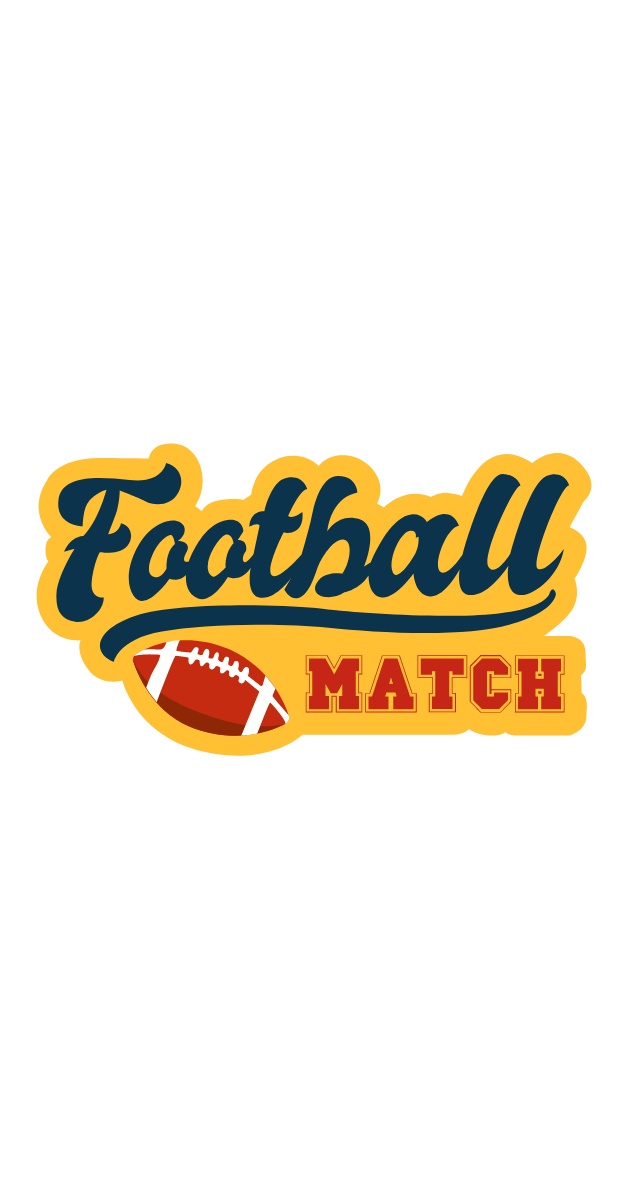 Football Match Retro Style Sticker