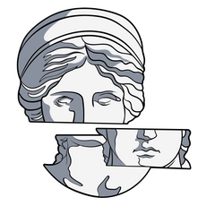 Fragments of Venus de Milo Sticker