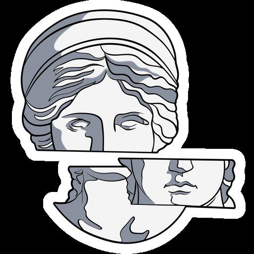 Fragments of Venus de Milo Sticker