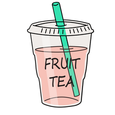 Fruit Tea Sticker