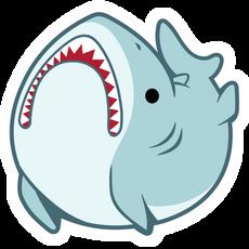 Funny Great White Shark Sticker
