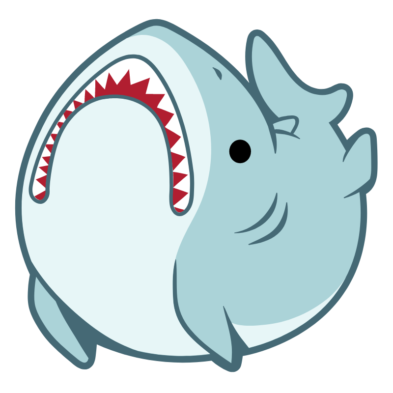 Funny Great White Shark Sticker