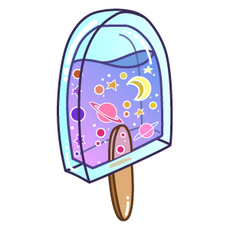 Galaxy Ice Cream Sticker