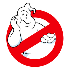 GhostBusters Logo Bored Ghost Sticker