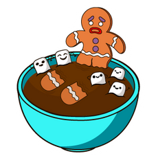 Gingerbread Man and Chocolate Milk Sticker