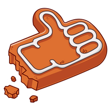 Gingerbread Man Thumbs Up Sticker