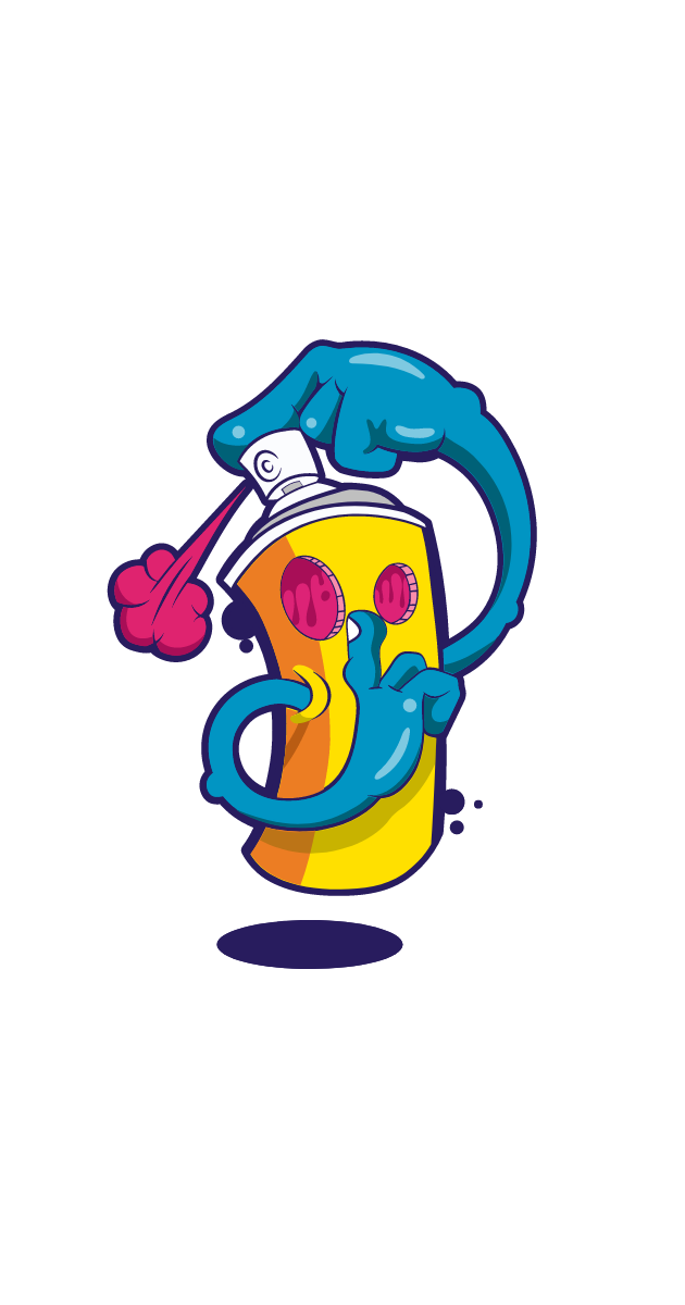 Graffiti Spray Balloon Tss Sticker
