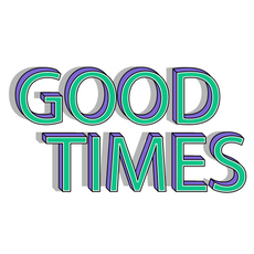 Green and Purple Good Times Sticker