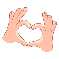 Hand Heart Gesture Sticker