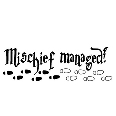 Harry Potter Mischief Managed Sticker
