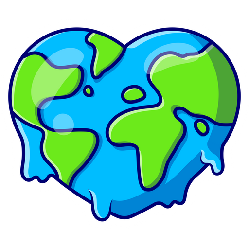 Heart Earth Sticker