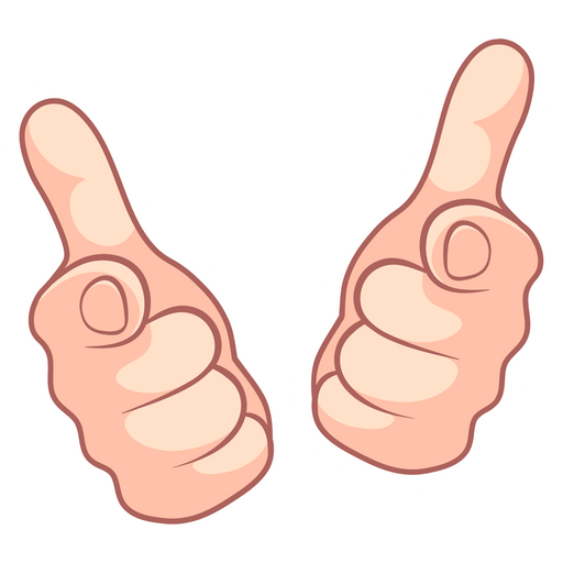 Hey You Hands Gesture Sticker