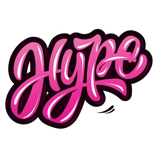 Hype Graffiti Style Sticker