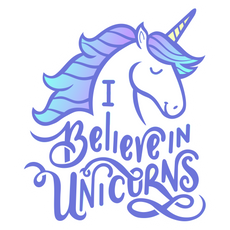 I Believe in Unicorns Sticker