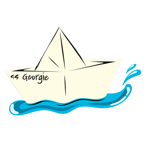 It SS Georgie Paper Boat Sticker