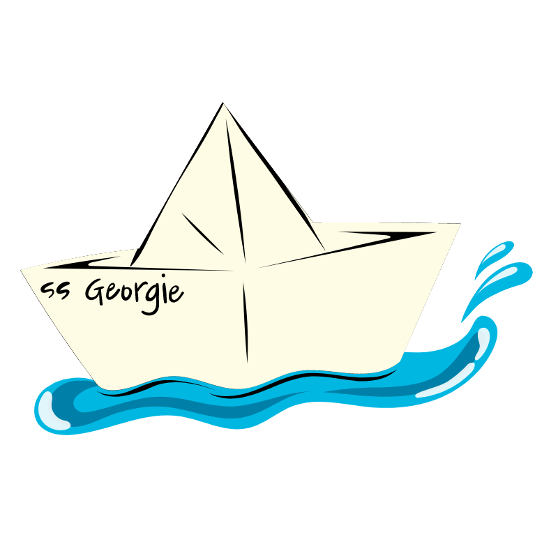 It SS Georgie Paper Boat Sticker