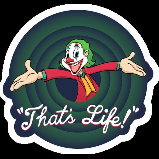 Joker That's Life Looney Tunes Style Sticker