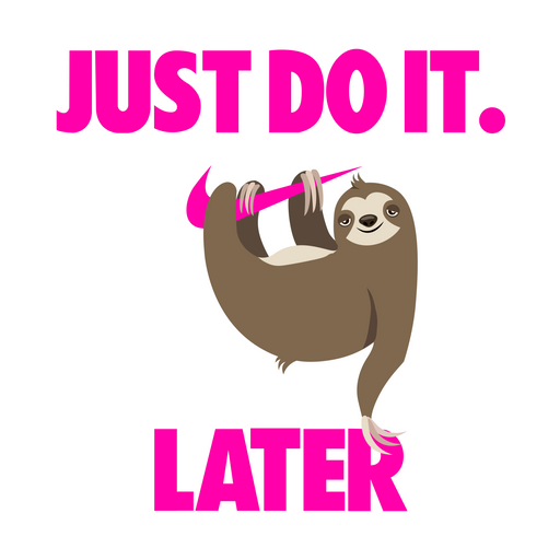 Just Do It Later Nike Sloth Sticker