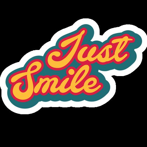 Just Smile Sticker
