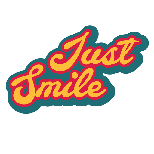 Just Smile Sticker