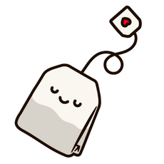 Kawaii Tea Bag Sticker