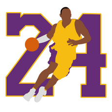 Kobe Bryant 24 Dribbles Sticker