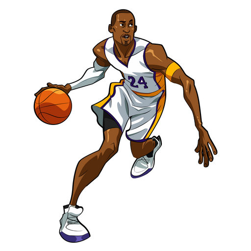 Kobe Bryant Dribbles Sticker