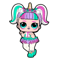 LOL Doll Unicorn Sticker