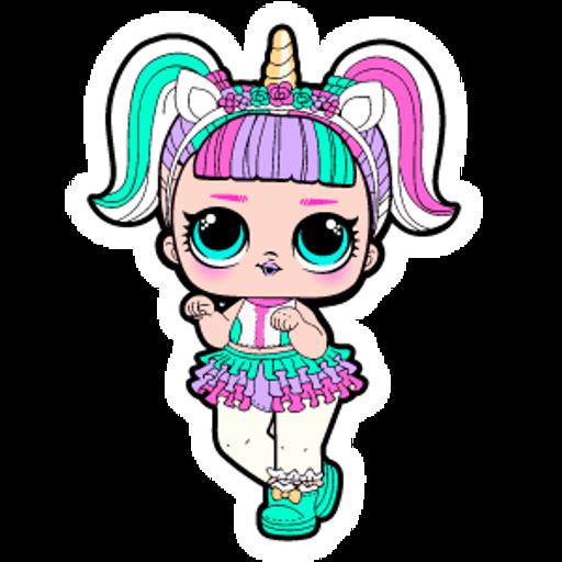 LOL Doll Unicorn Sticker