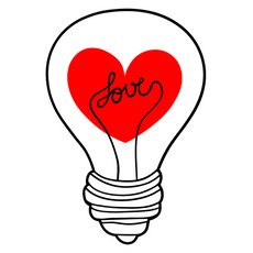 Love Light Bulb Sticker