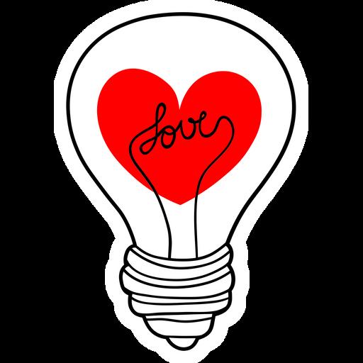 Love Light Bulb Sticker