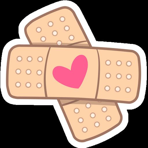 Love Plaster Sticker