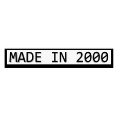 Made in 2000 Sticker