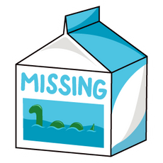 Missing Milk Loch Ness Monster Sticker