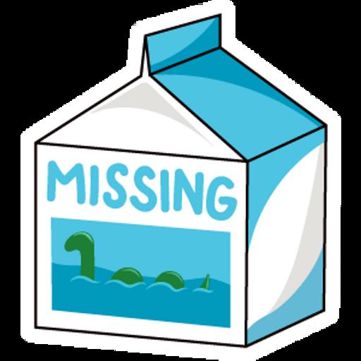 Missing Milk Loch Ness Monster Sticker