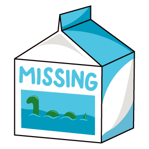 Missing Milk Loch Ness Monster