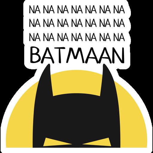 Na na na Batman Sticker