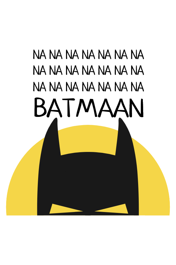 Na na na Batman Sticker